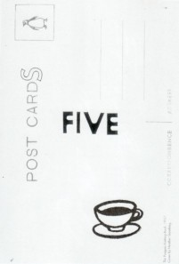 five postcards
